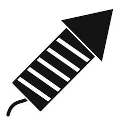 xmas festive rocket icon simple style vector image
