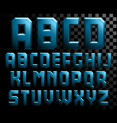 alphabet of metal letters vector image