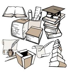 doodle education set vector image vector image