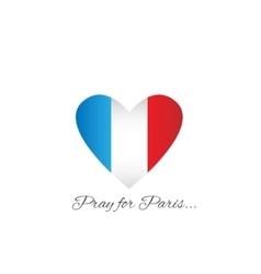 Pray for paris vector image vector image