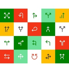 Arrows and directional signs Flat series vector image vector image
