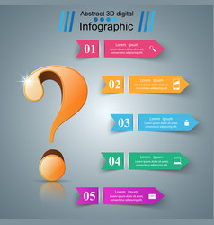 business infographics question mark vector image