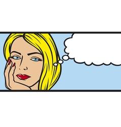 pop art woman vector image vector image