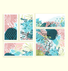 universal floral cards set vector image vector image