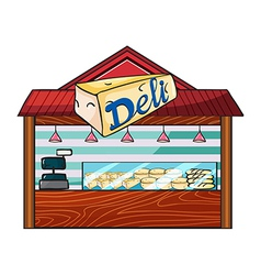 A cheese store vector image vector image