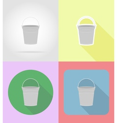 garden tools flat icons 06 vector image vector image