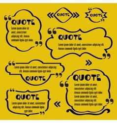 Quote framesvintage template with print vector