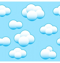 abstract light blue sky background vector image vector image