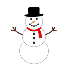 colorful snowman icon vector image