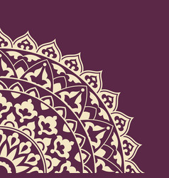 Invitation card with round indian ornament vector