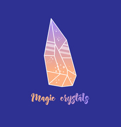 magic crystals of pyramidal shape vector image