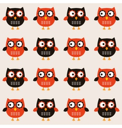 Seamless owls pattern vector image vector image