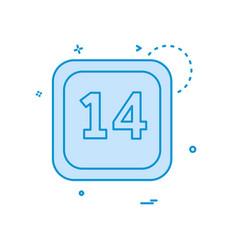 14 date calender icon design vector image