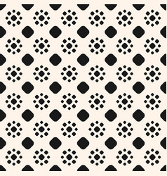 abstract dotted seamless pattern simple ornament vector image