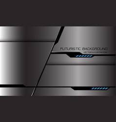 abstract grey metallic black cyber line blue power vector image