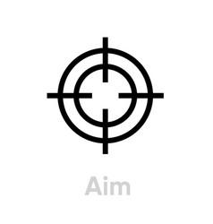 Aim targets icon editable line vector