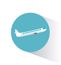 airplane transport vehicle image vector image