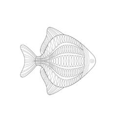 Aquarium Fish Sea Underwater Nature Adult Black vector image