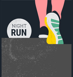 athlete runner feet running or walking on road vector image