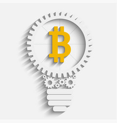 bitcoin grow gears vector image