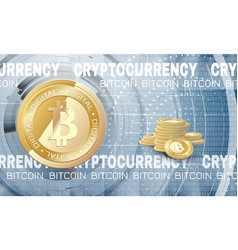 bitcoin on abstract background vector image