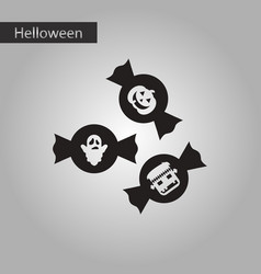 Black and white style icon halloween candy vector