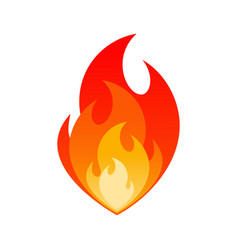 blazing fire flame gas explosion danger sign vector image