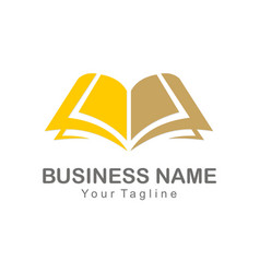 Book knowledge sign logo vector