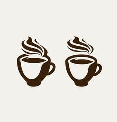 Cafe coffeehouse logo or symbol coffee cup vector