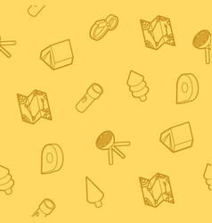 Camp outline isometric pattern vector