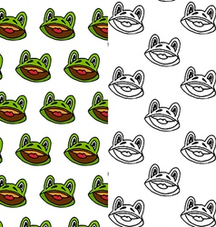 Cartoon frog seamless pattern designs vector