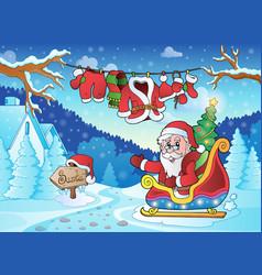 Christmas outdoor theme 4 vector