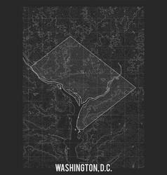 City map washington elevation map of vector