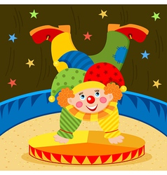 clown on stage vector image
