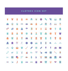 collection clothes fashion icons set with flat vector image
