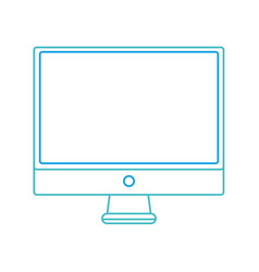 color line electronic computer screen technology vector image