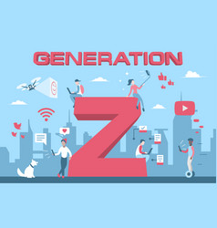 Colorful generation z young vector
