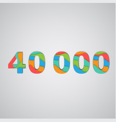 Colorful papercut layered number vector