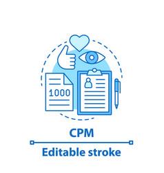 Cpm concept icon vector
