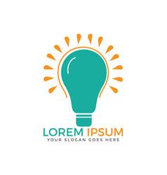 creative light bulb logo design vector image