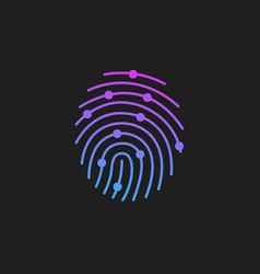 Digital modern identify and measuring bright vector