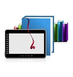 E book reader vector