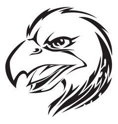 eagle head tattoo vintage engraving vector image