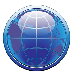 earth glode web button vector image