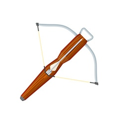 Flat style colored medieval crossbow arrow icon vector