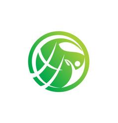 global farm and garden solution vector image