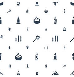 Glow icons pattern seamless white background vector
