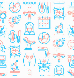 gynecologist seamless pattern vector image