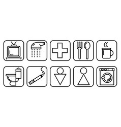 icons to destination rooms vector image