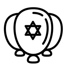 jewish ballons icon outline style vector image
